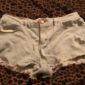 Jean light blue shorts